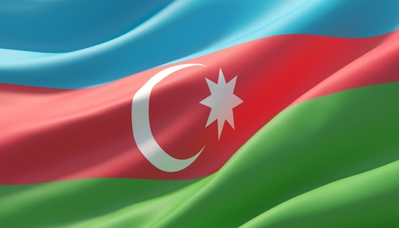 Background with flag of Azerbaijan