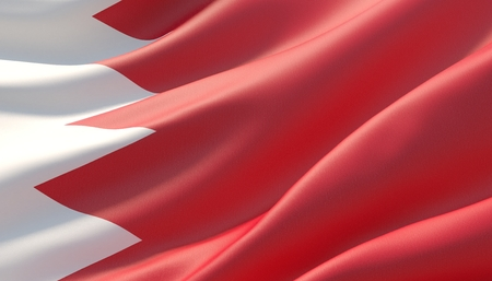 Background with flag of Bahrain