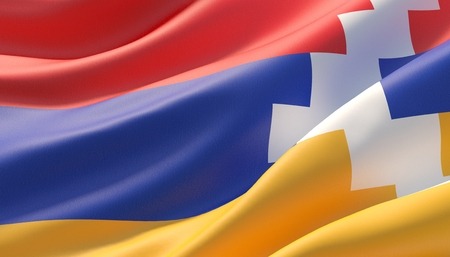 Background with flag of Artsakh Фото со стока