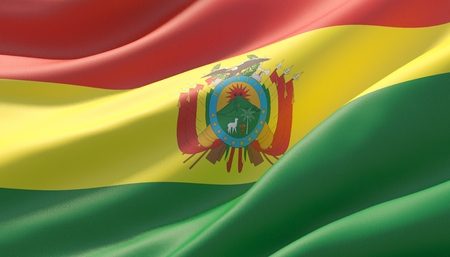 Background with flag of Bolivia