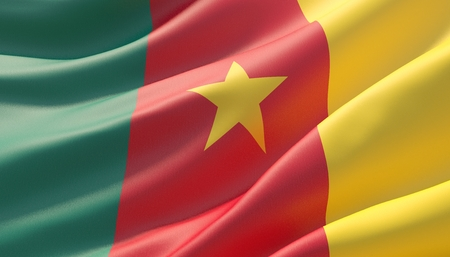 Background with flag of Cameroon