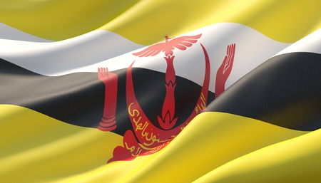 Background with flag of Brunei