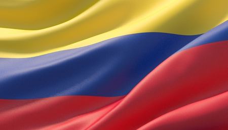 Background with flag of Colombia