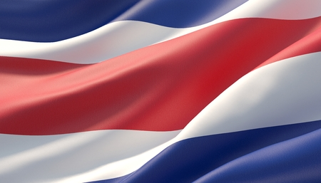 Background with flag of Costa Rica 写真素材