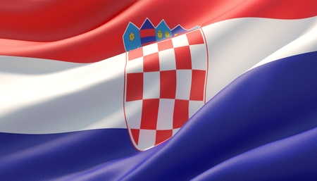 Background with flag of Croatia