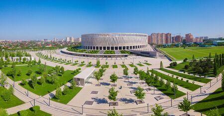 Krasnodar, Russia - May 2019: Aerial view of Krasnodar Stadium Park