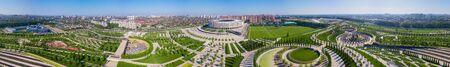 Krasnodar, Russia - May 2019: Ultra wide Panoramic view of Krasnodar Stadium Redakční