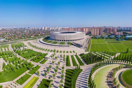 Krasnodar, Russia - May 2019: Panoramic view of Krasnodar Stadium