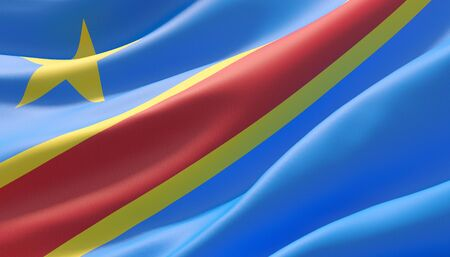 Background with flag of Democratic Republic of the Congo Standard-Bild - 124793996