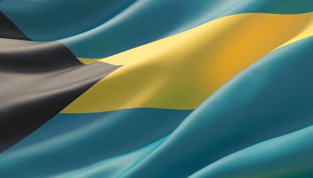 Background with flag of Bahamas