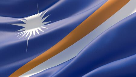 Background with flag of Marshall Islands 写真素材