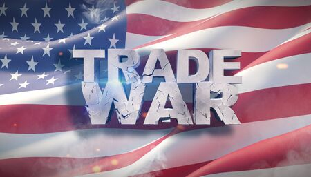 World or global financial tariff trade war negotiation talk, collaboration or discuss concept