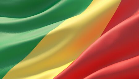 Background with flag of Republic of the Congo Standard-Bild - 125117625
