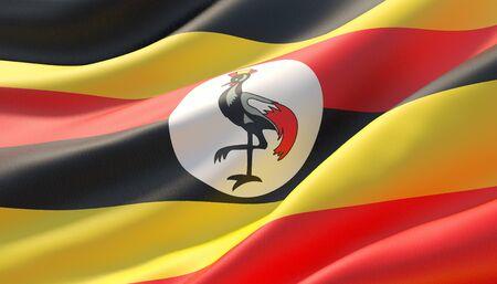 Background with flag of Uganda