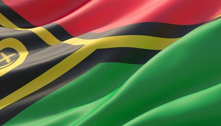 Background with flag of Vanuatu Stock Photo