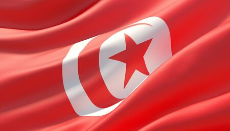 Background with flag of Tunisia Banque d'images - 125117632