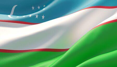 Background with flag of Uzbekistan