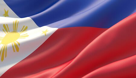 Background with flag of Philippines