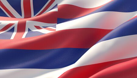 Background with flag of Hawaii