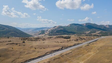 Mountain road in Republic of Dagestan, Caucasus, Russia