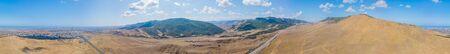 High resolution panoramic view of Mountain road in Republic of Dagestan, Caucasus, Russia