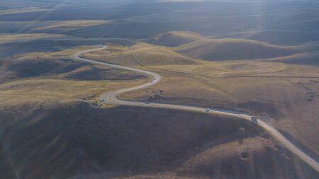 Mountain road in Chechen Republic, North Caucasus, Russia