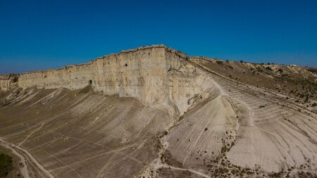 White Rock is a Cliff in Crimea, Russia. Aerial view.