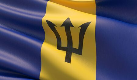 Background with flag of Barbados