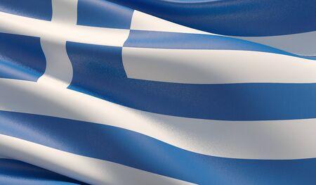 Background with flag of Greece Stok Fotoğraf - 133181434