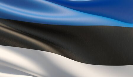 High resolution close-up flag of Estonia. 3D illustration. 写真素材