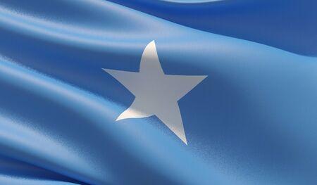 High resolution close-up flag of Somalia. 3D illustration. Stockfoto