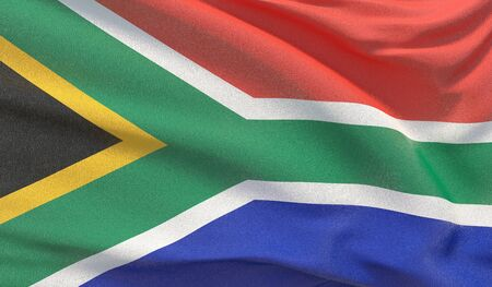 Background with flag of South Africa