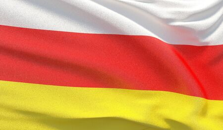 Background with flag of South Ossetia