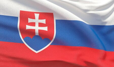 Background with flag of Slovakia Reklamní fotografie