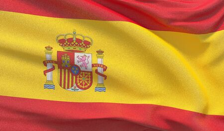 Background with flag of Spain