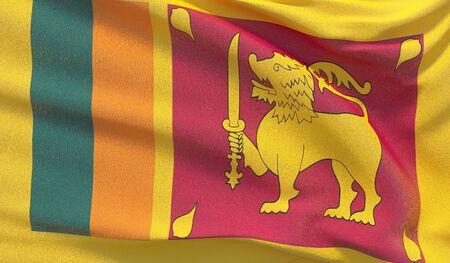 Background with flag of Sri Lanka Reklamní fotografie