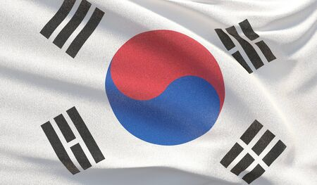 Background with flag of South Korea