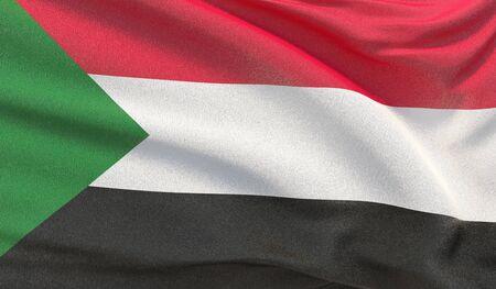 Background with flag of Sudan Reklamní fotografie