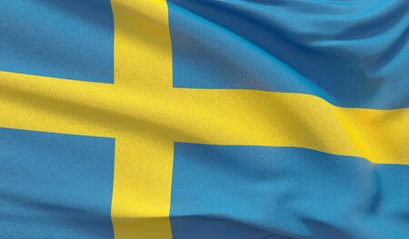 Background with flag of Sweden