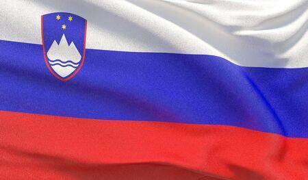 Background with flag of Slovenia 版權商用圖片