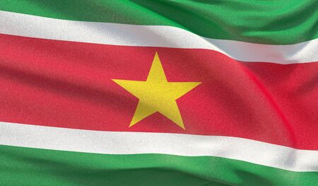 Background with flag of Suriname