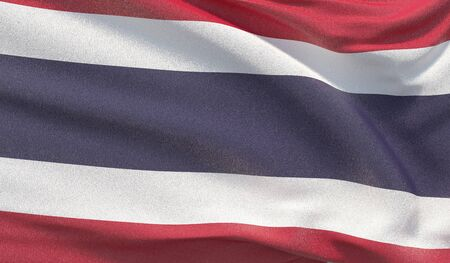 Background with flag of Thailand