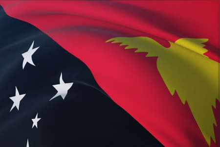Background with flag of Papua New Guinea