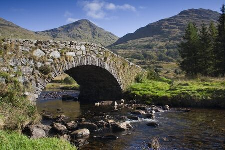 highlands: bridge in the Scottish Highlands, Scotland Stock Photo