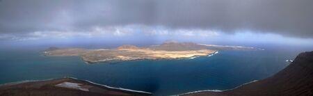 lanzarote: Panoramic Isla Graciosa, Lanzarote Stock Photo