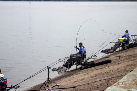 Lipetsk Russia 13 May, 2018 :fishing competition Editorial