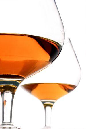 wino: brandy glasses Stock Photo