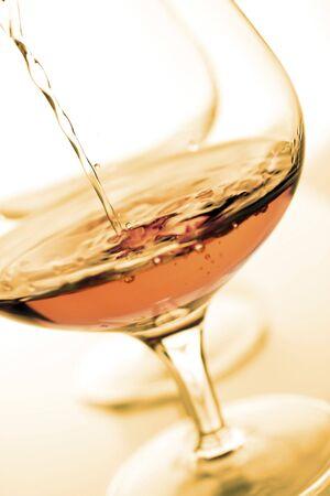 intoxicate: brandy glasses Stock Photo