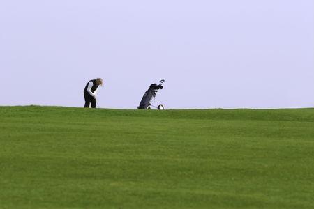 woman golfer Stock Photo - 374727