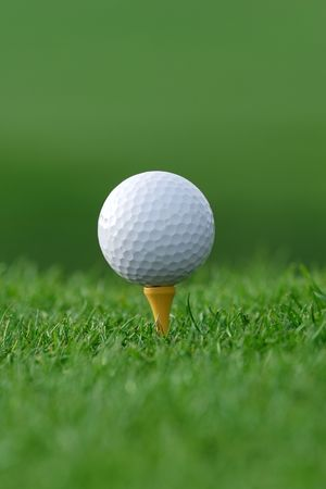 get ready golf ball on tee Stock Photo - 374732
